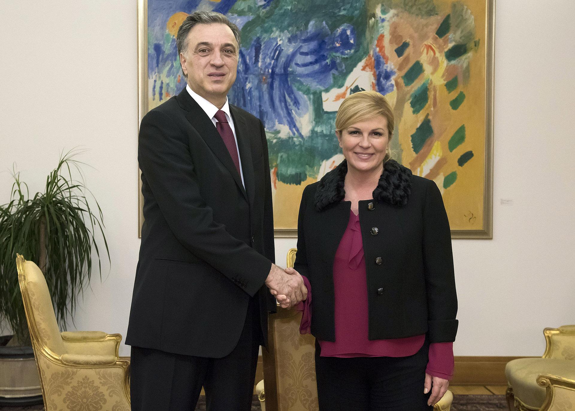 Grabar-Kitarović s crnogorskim predsjednikom Vujanovićem