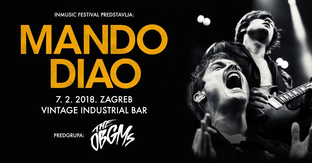 Koncert grupe 'Mando Diao' seli u Vintage Industrial (07. veljače)