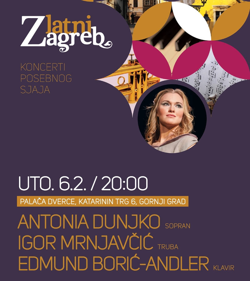 ZLATNI ZAGREB Zatvaranje ciklusa uz Antoniu Dunjko, Edmunda Borića-Andlera i Igora Mrnjavčića
