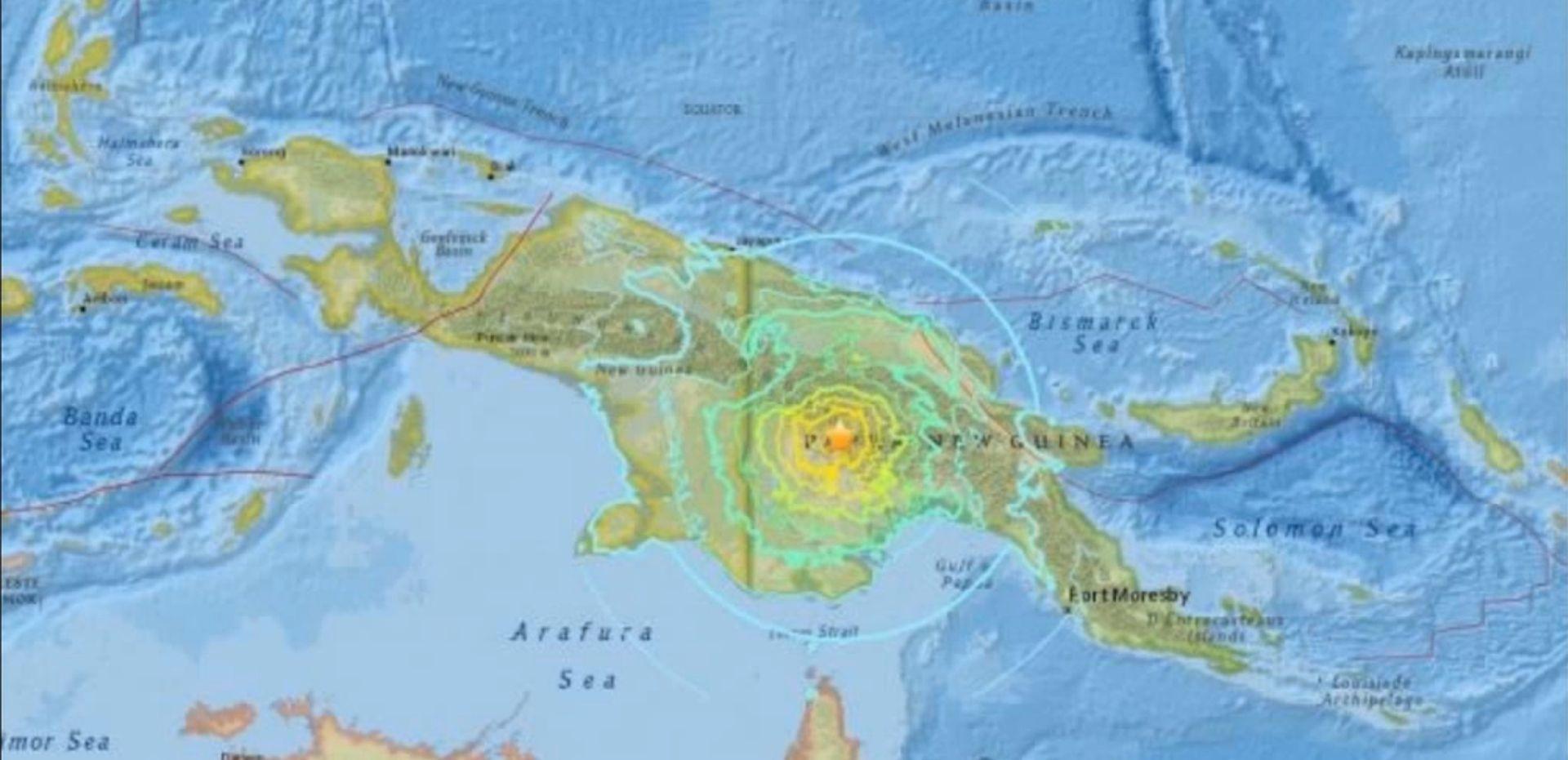 U potresu u Papui Novoj Gvineji više od 30 mrtvih
