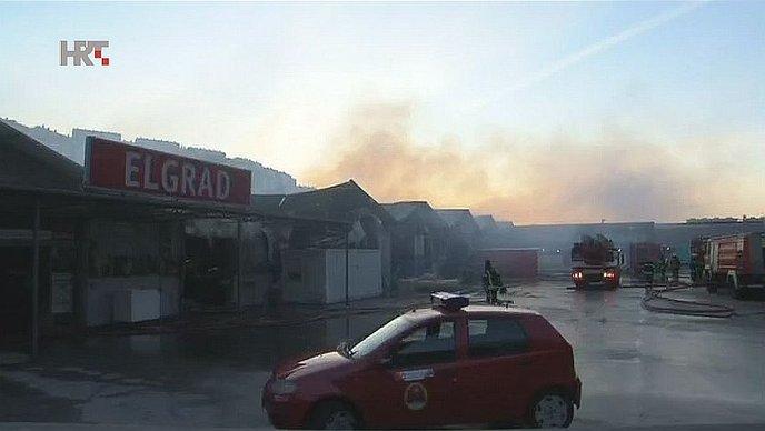 """RIJEČKI ELGRAD Policija: """"Uzrok požara je ljudska radnja"""""""