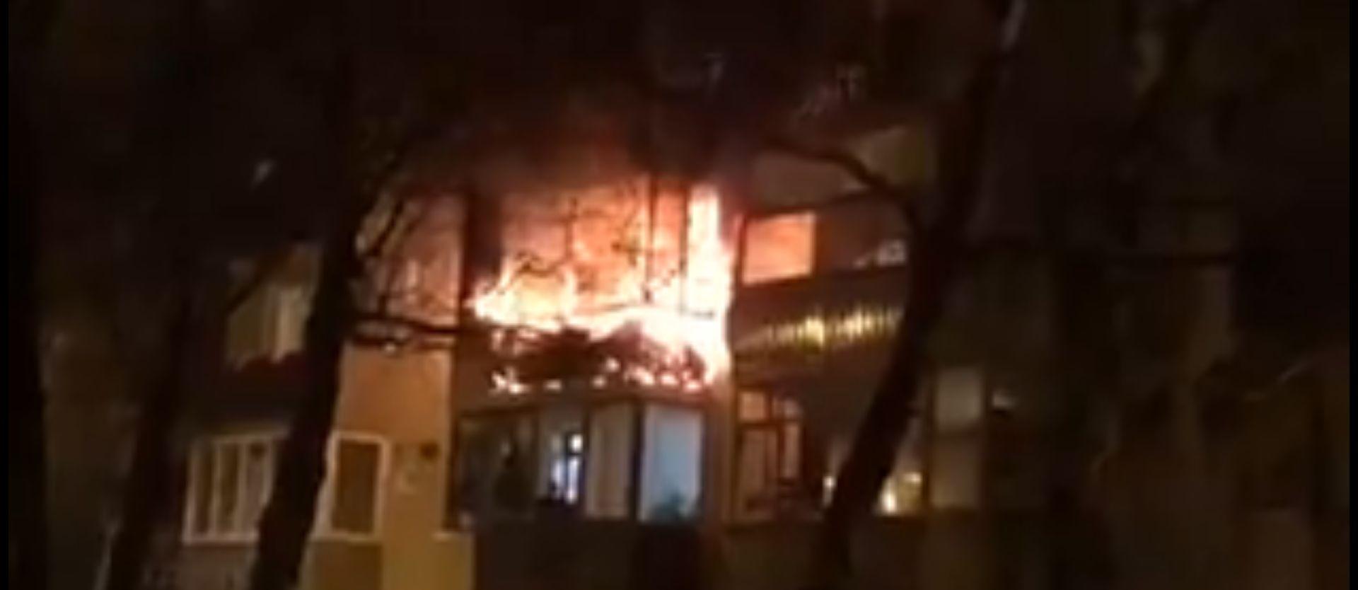 Izbio požar u Prečkom, vatra zahvatila više stanova