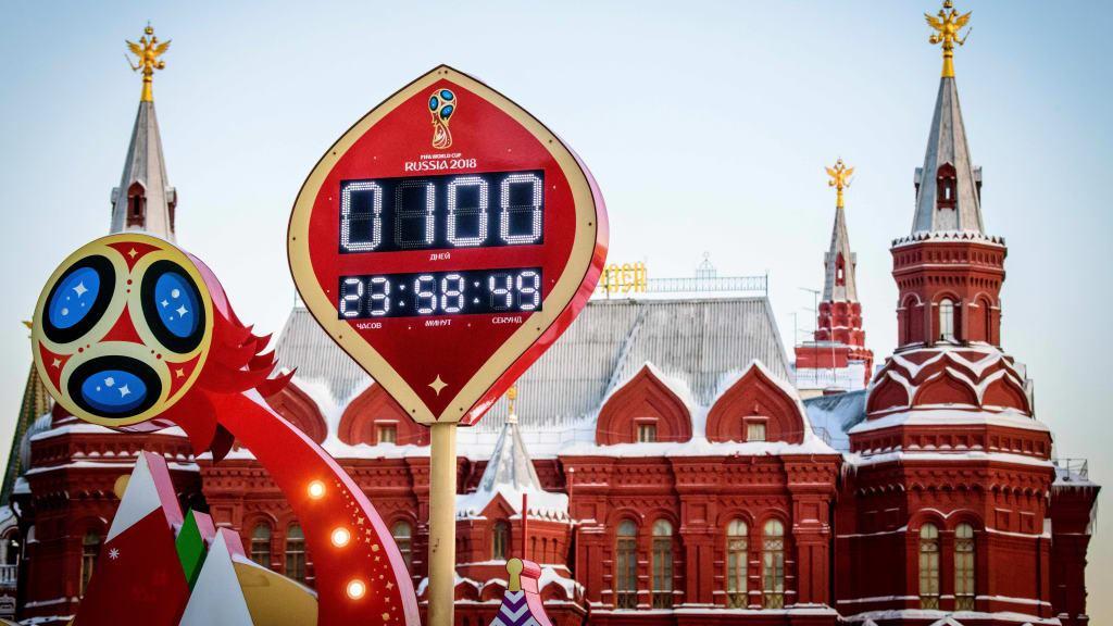 VIDEO: Rusi obilježili sto dana do početka Svjetskog nogomentnog prvenstva