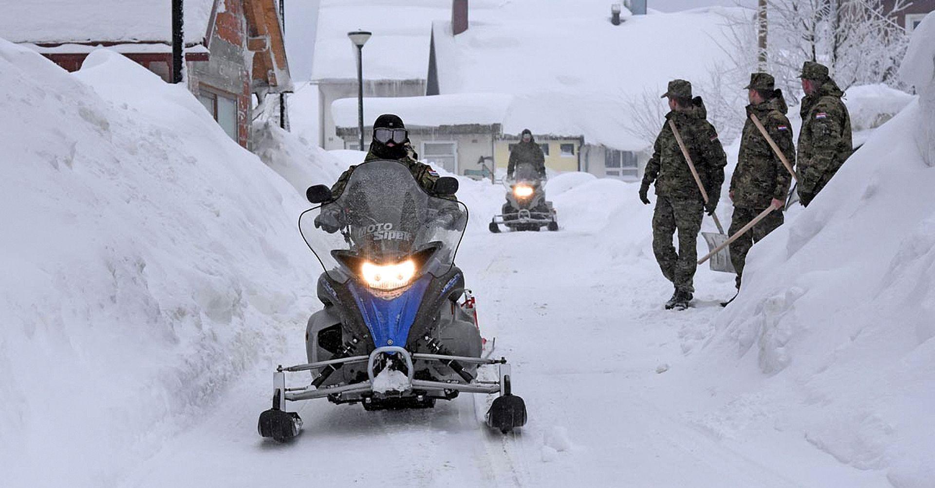 Troškovi čišćenja snijega u Gorskom kotaru 10 milijuna kuna