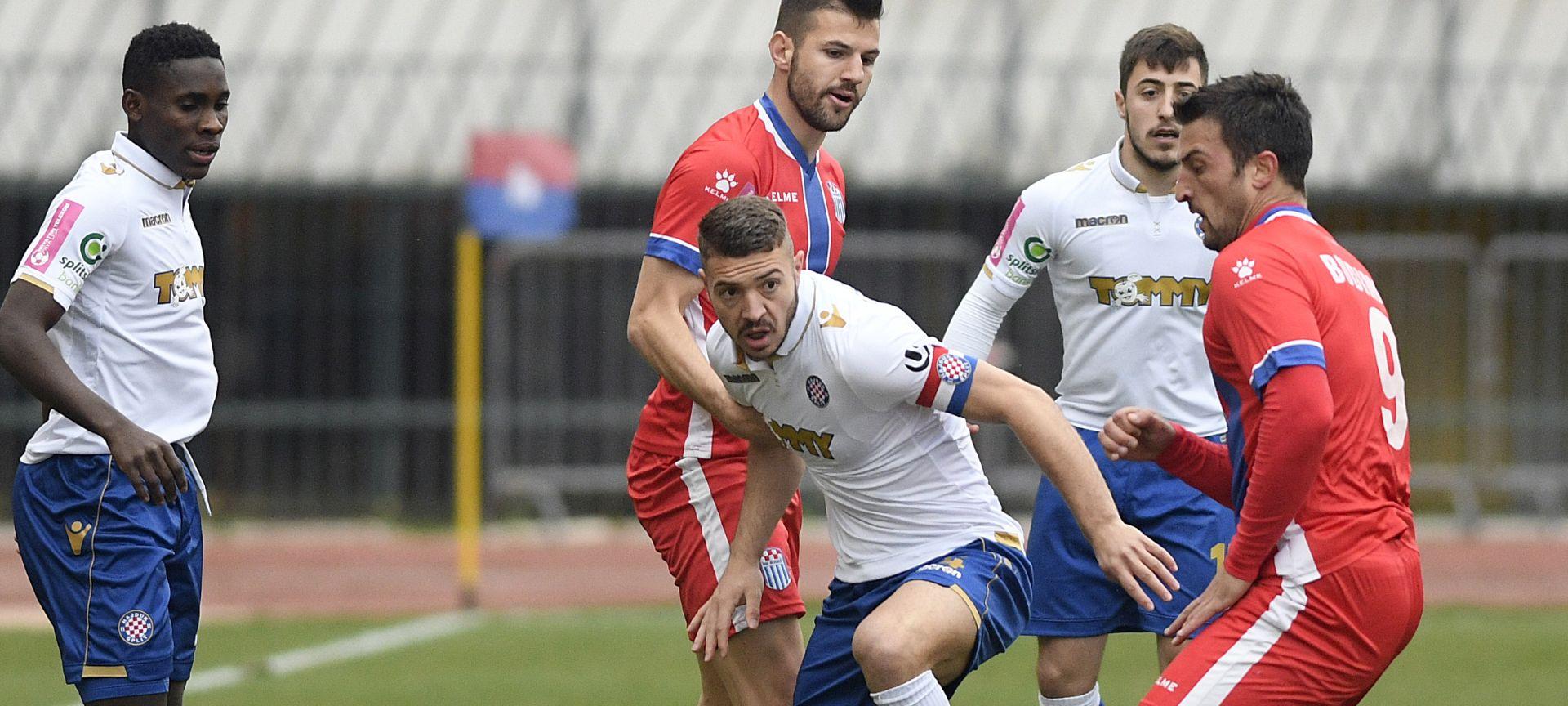 Hajduk minimalno protiv Rudeša