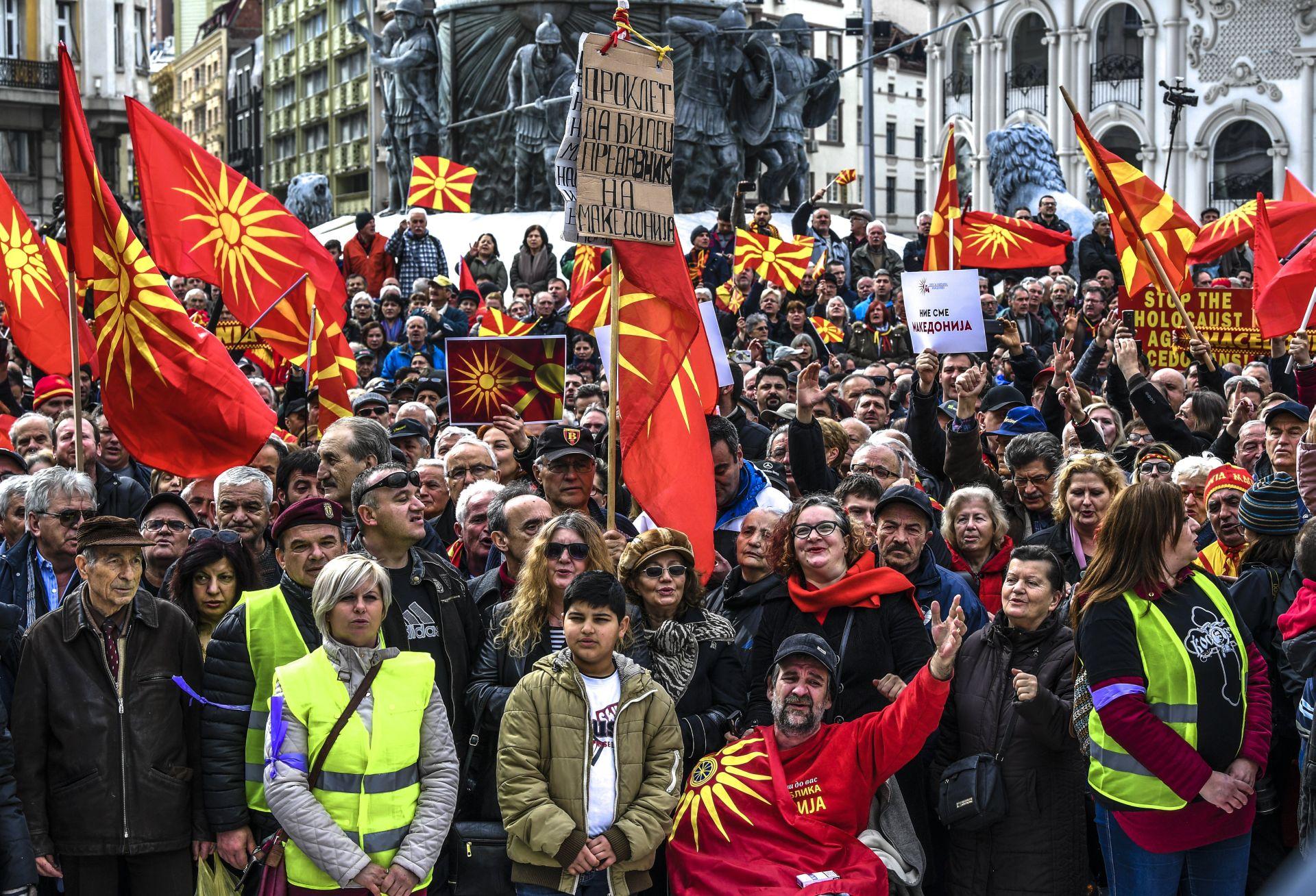 Makedonci prosvjeduju protiv moguće promjene naziva države