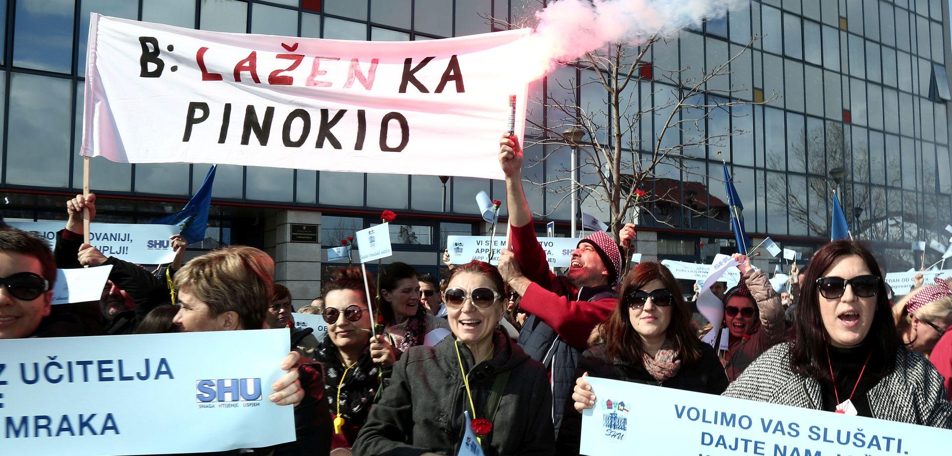 Novi prosvjed Sindikata učitelja