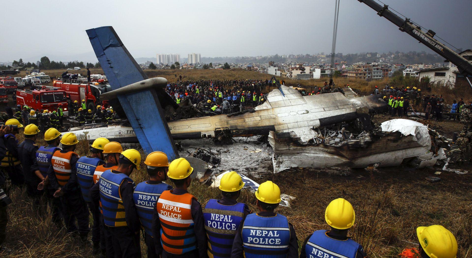 U padu zrakoplova u Nepalu 50 mrtvih