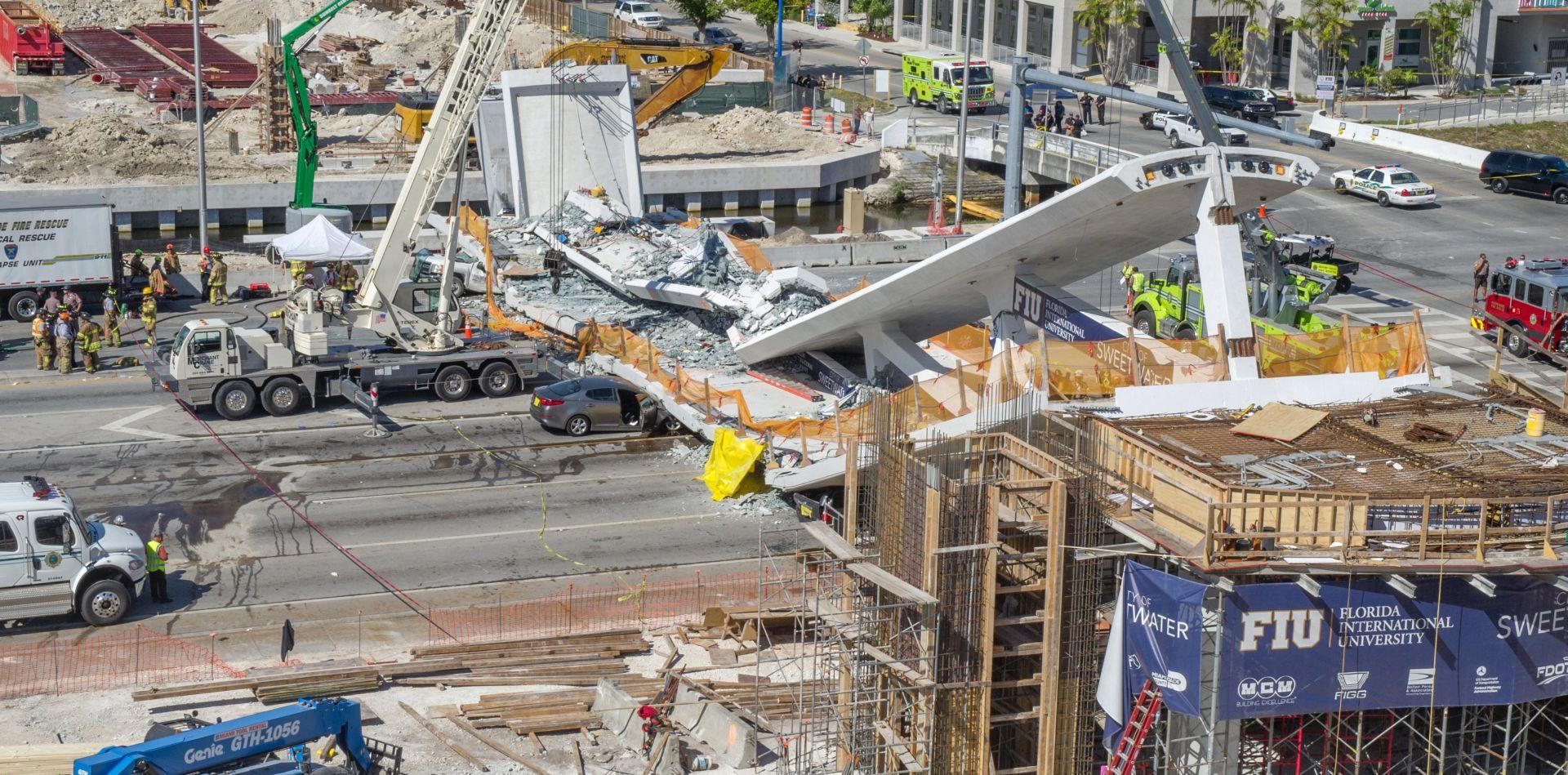 Urušeni most u Miamiju ubio najmanje šest osoba