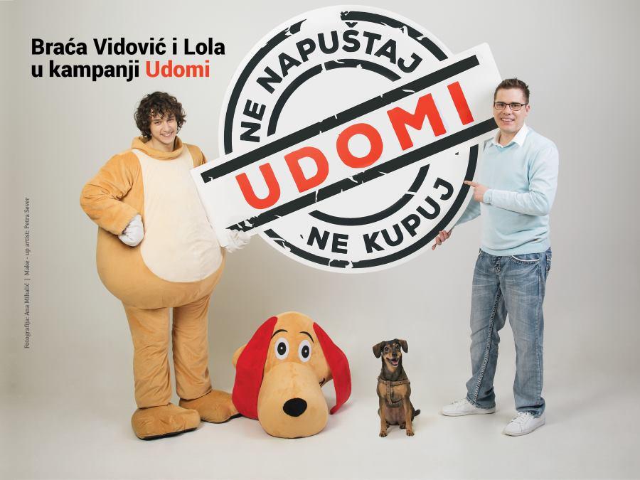 Udruga Prijatelji životinja u kampanji s braćom Filipom i Lukom Vidovićem