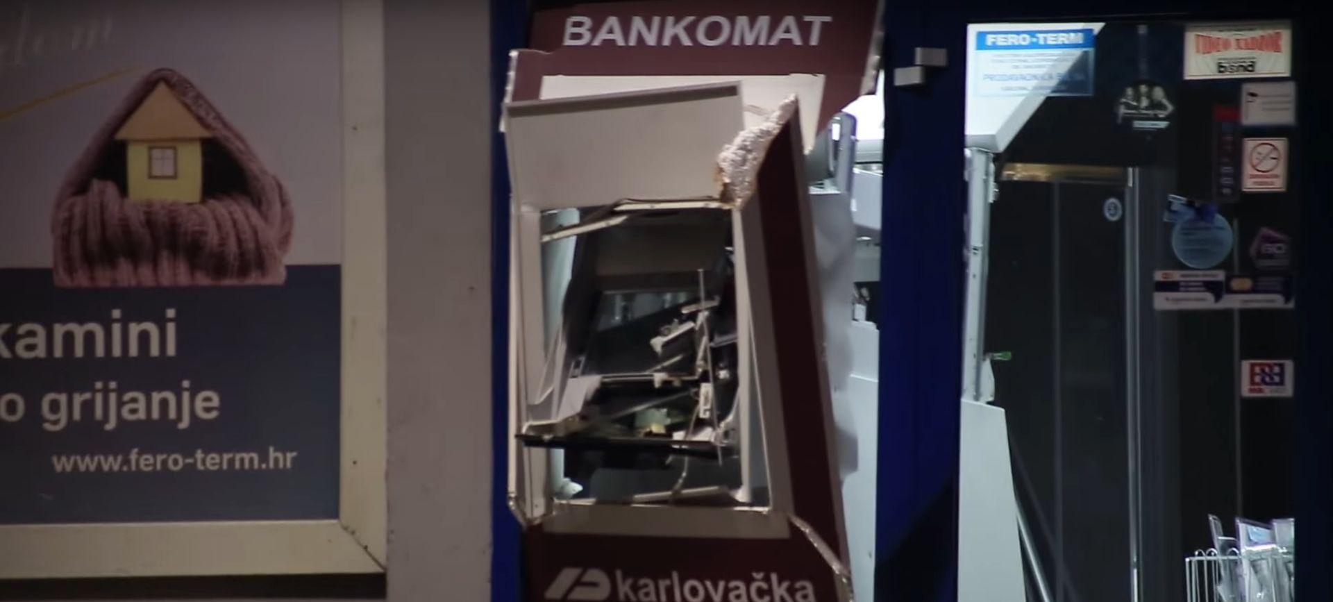VIDEO: Pogledajte pljačku bankomata u Karlovcu