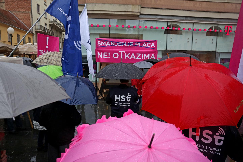 Radnici HT-a prosvjeduju protiv otpuštanja i smanjenja plaća: Borit ćemo se do kraja