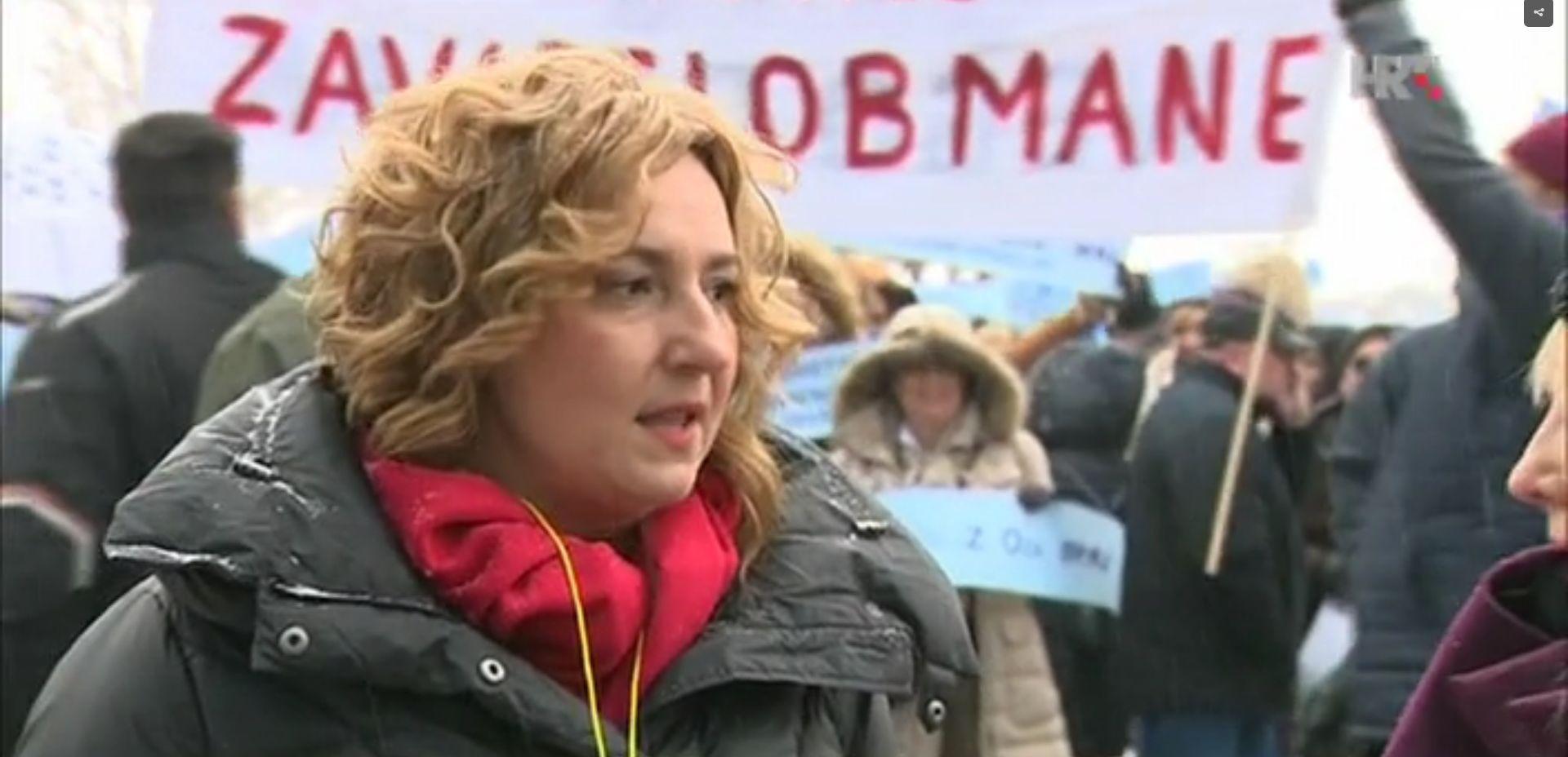 Prosvjed učitelja ispred Ministarstva, Divjak za dijlog