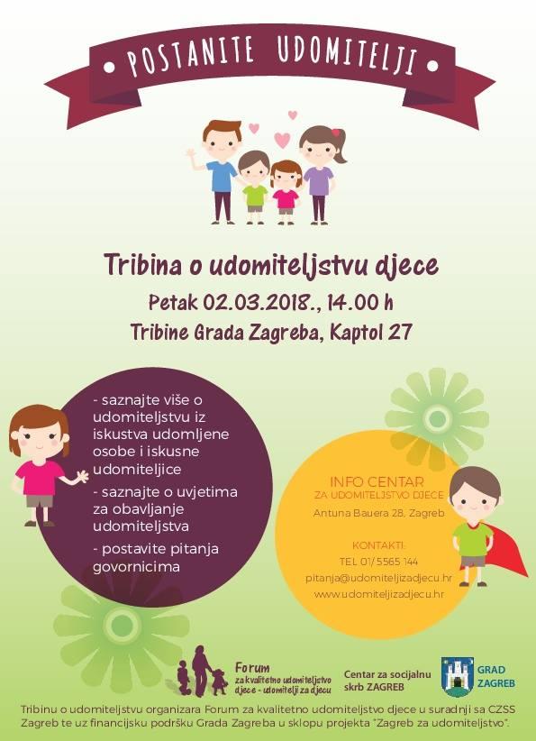 Forum za kvalitetno udomiteljstvo djece vas poziva na javnu tribinu