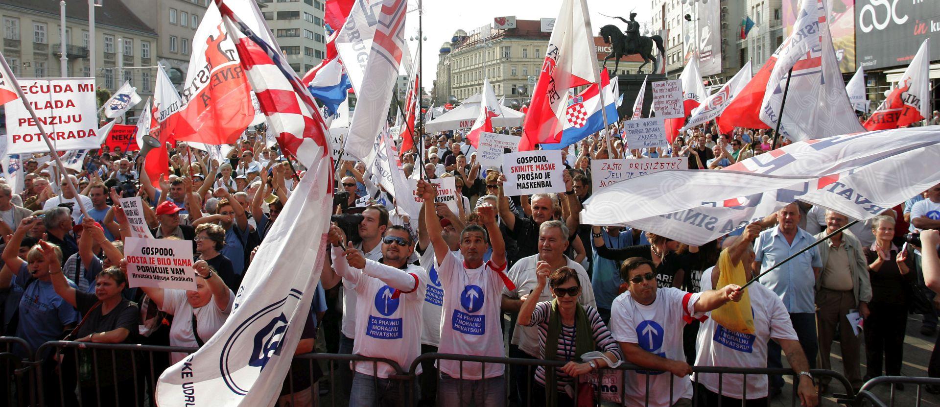 PRAZNIK RADA Prosvjedna povorka u Zagrebu