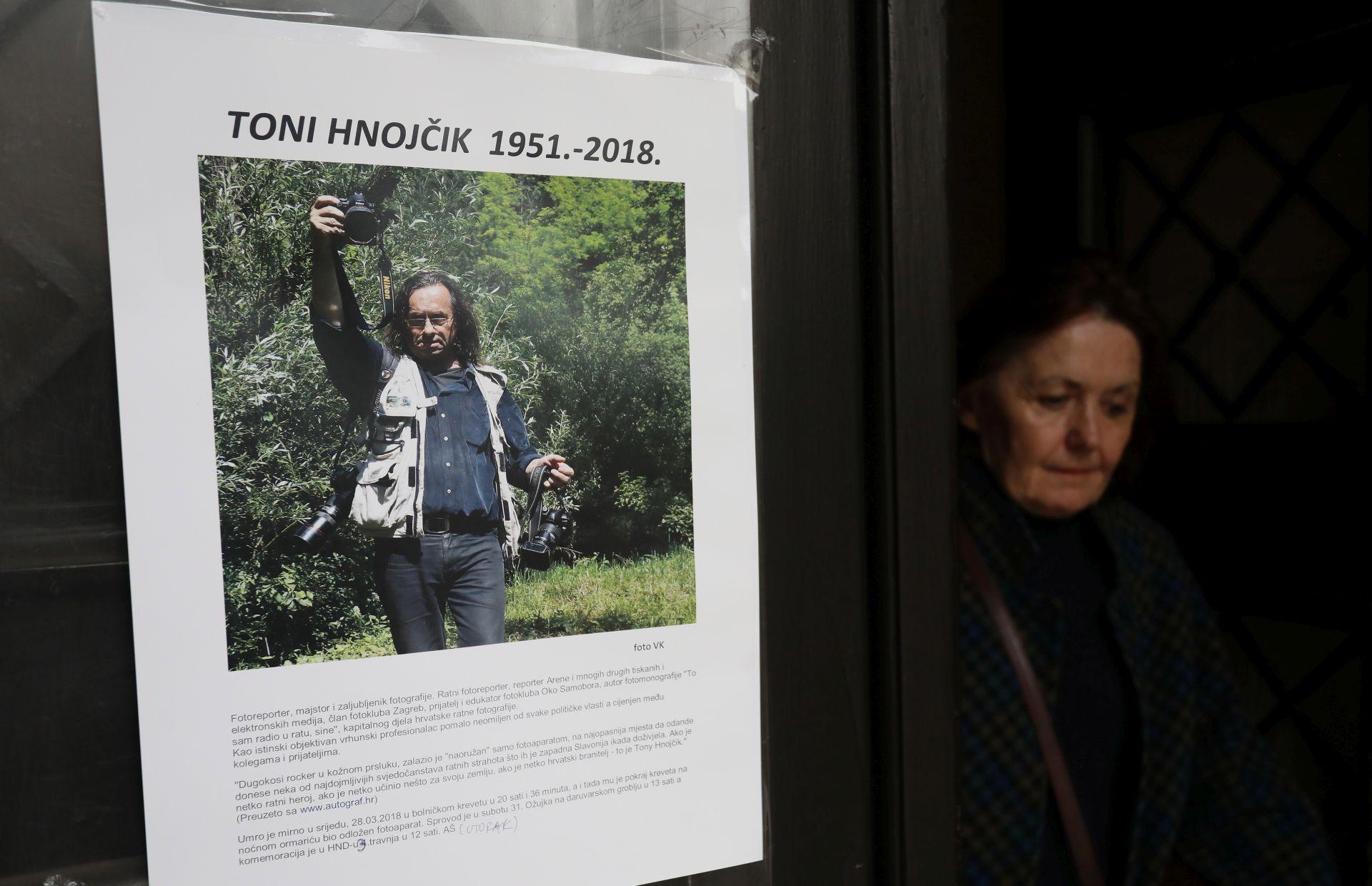 Komemoracija za fotoreportera Tonija Hnojčika