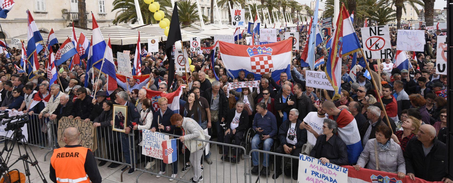 POLICIJA Na skupu u Splitu okvirno 15 tisuća ljudi