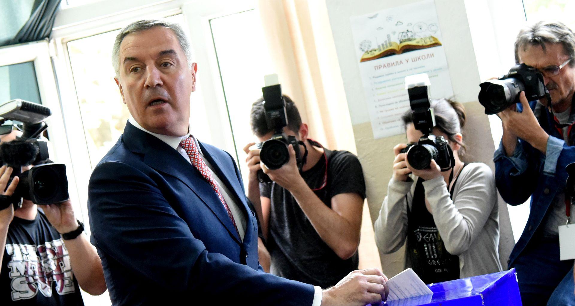 Đukanović proglasio pobjedu u prvom krugu