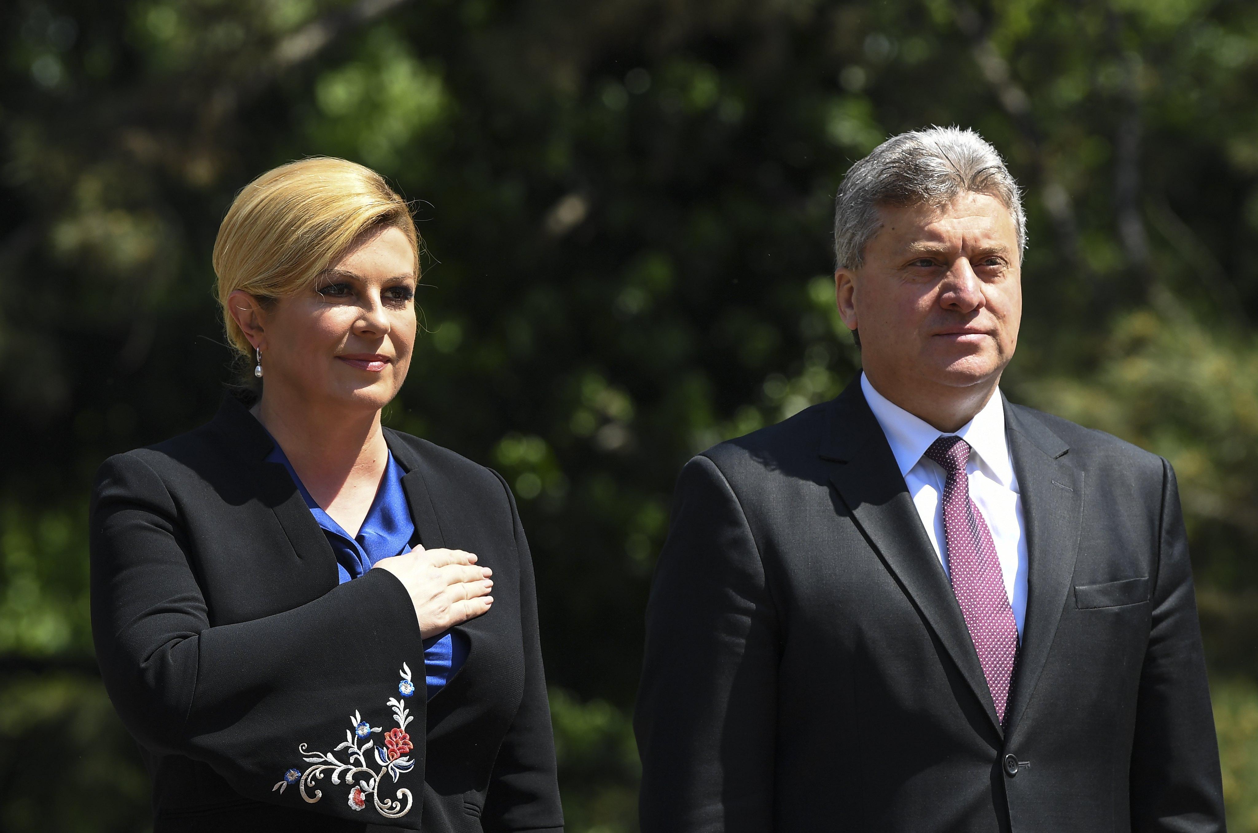 Ivanov i Grabar-Kitarović o makedonskom putu prema EU i NATO-u
