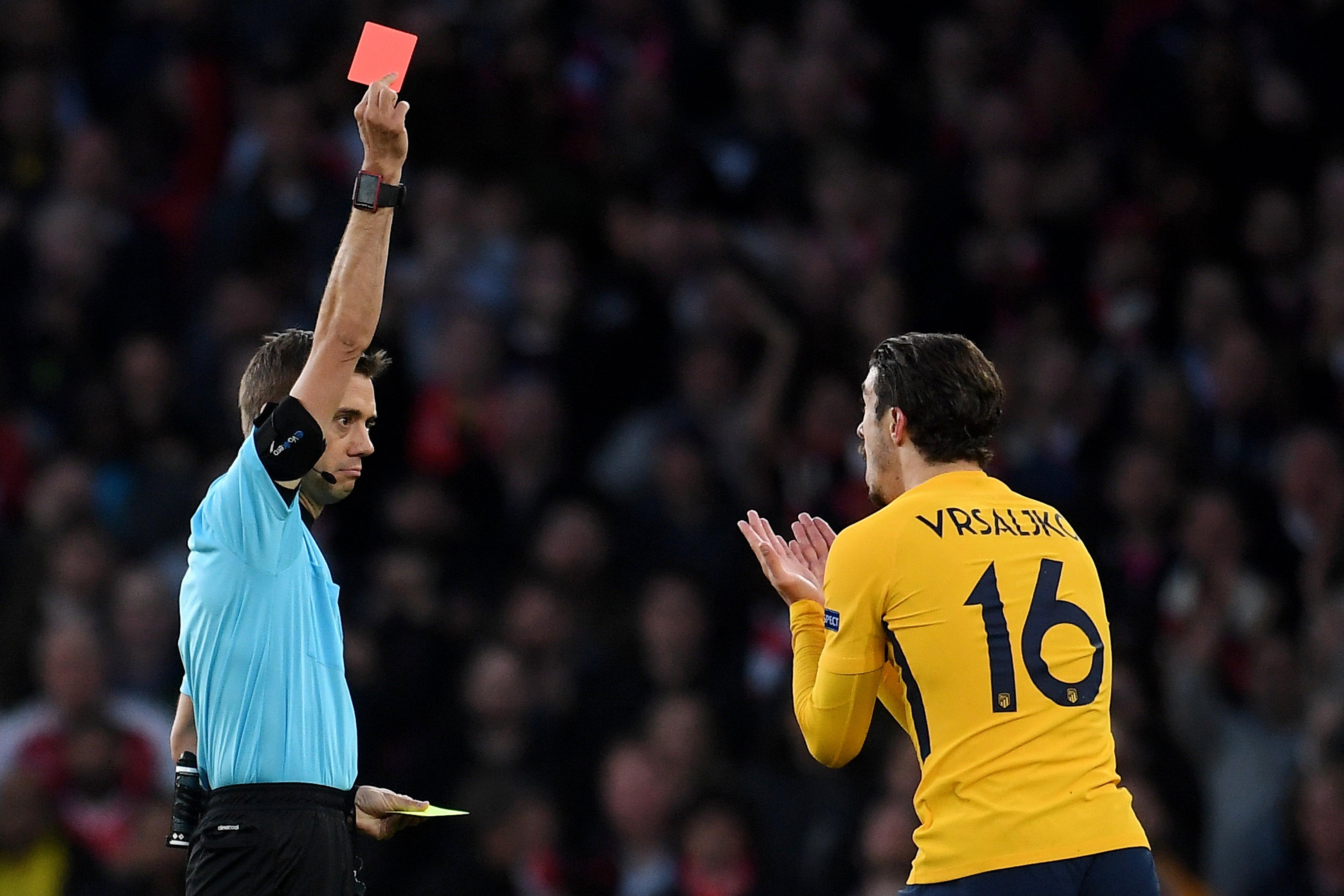 Arsenal – Atletico 1-1, Vrsaljko isključen u 10 minuti