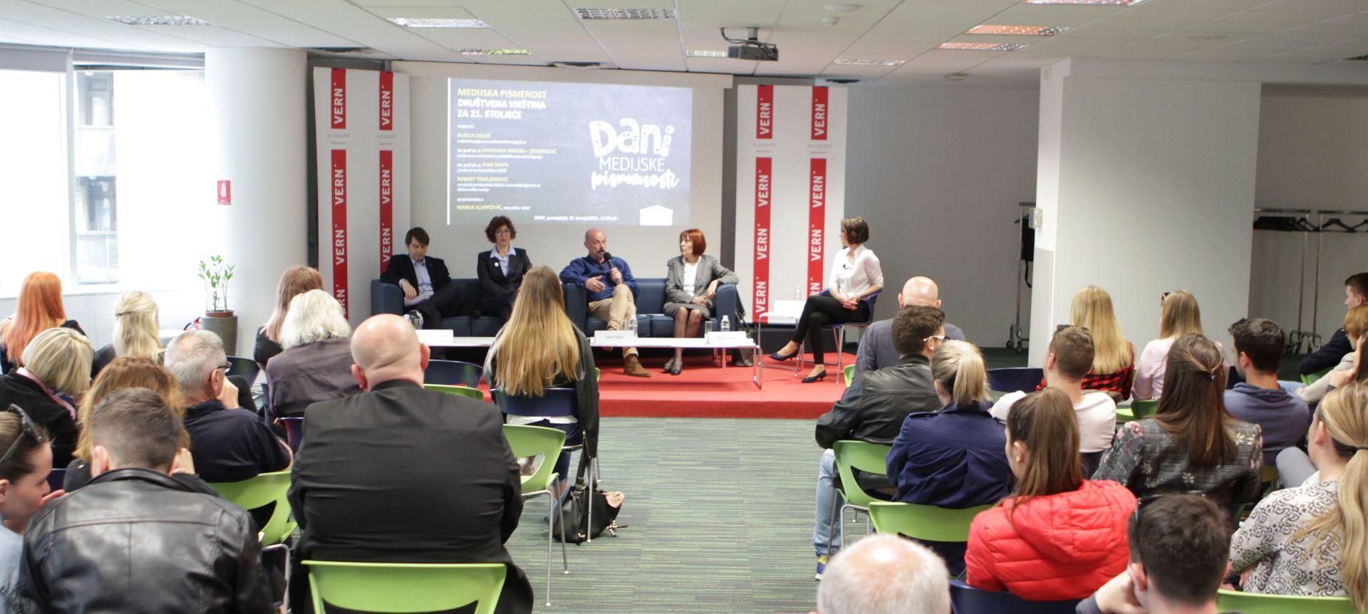 VERN' Održan panel 'Medijska pismenost – društvena vještina za 21. stoljeće'