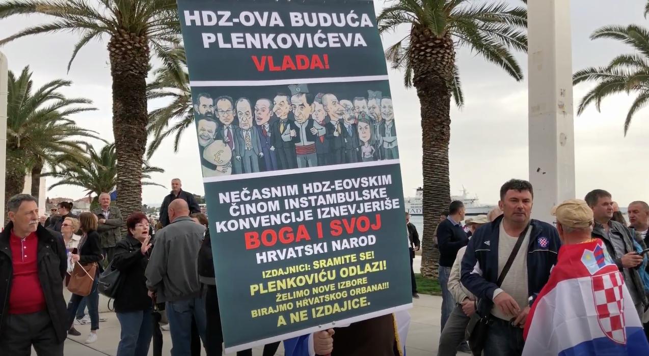 SPLIT Prosvjed protiv ratifikacije Istanbulske konvencije