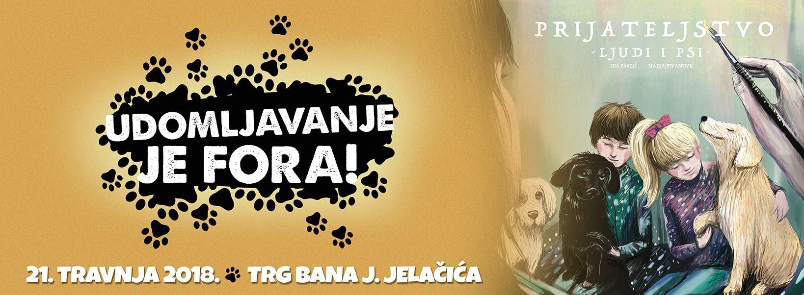 Akcija 'Udomljavanje je fora' na Trgu bana Jelačića u Zagrebu