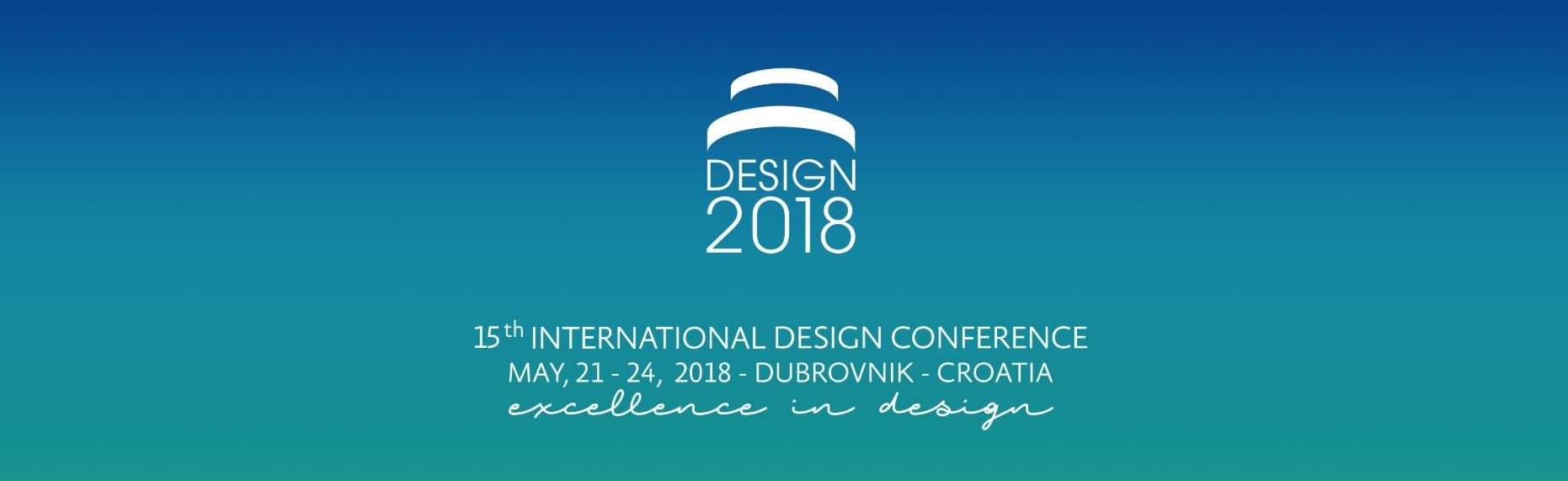 Međunarodna konferencija DESIGN 2018 u Gradu Dubrovniku