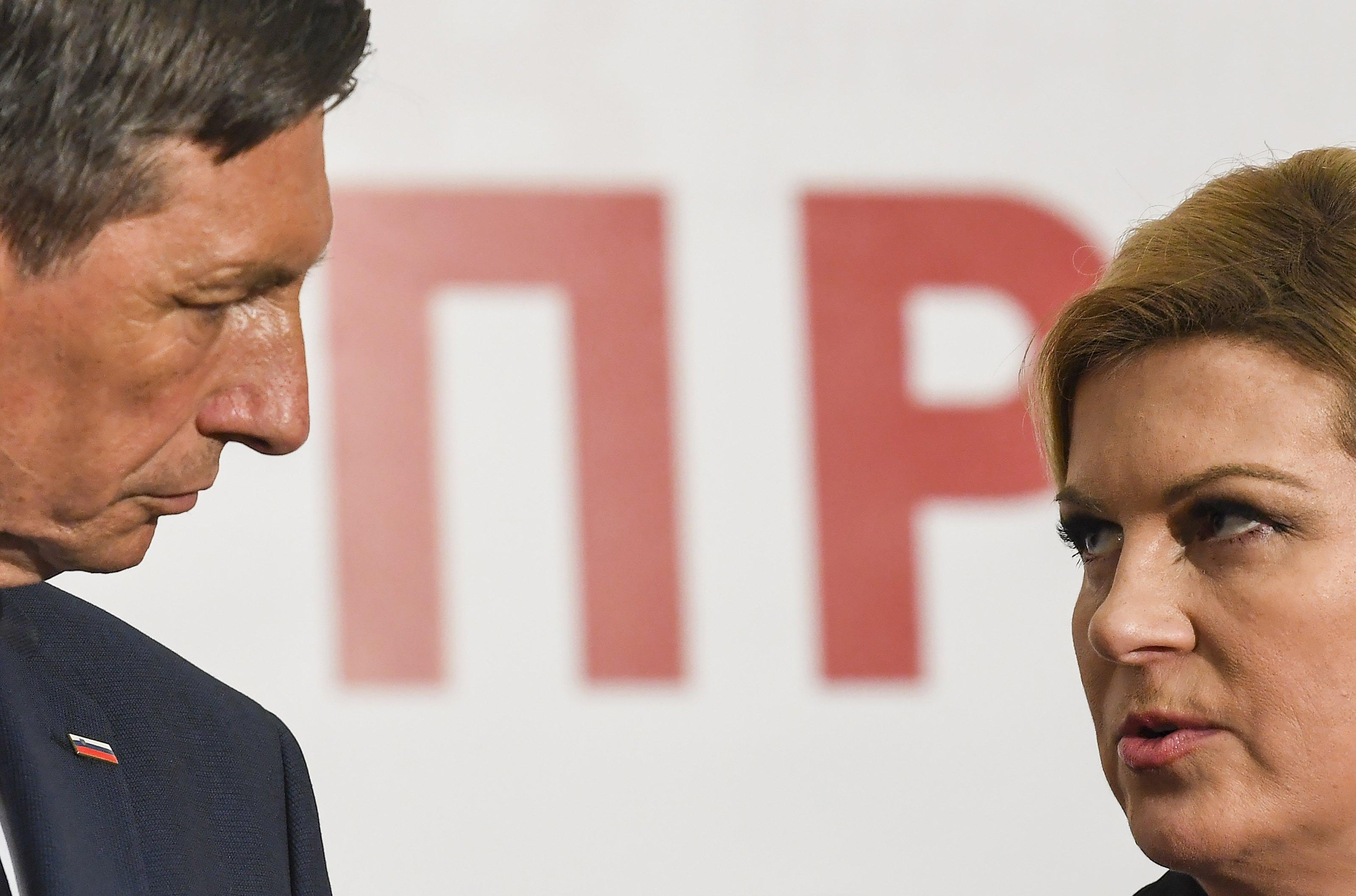 Grabar-Kitarović i Pahor susreli se na neformalnoj radnoj večeri u Hrvatskoj