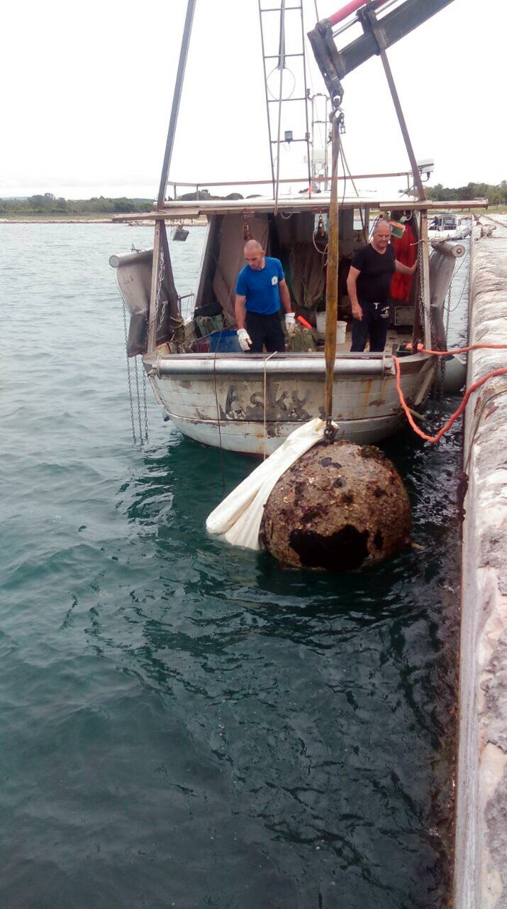 UMAG Iz mora izvađena i uništena protubrodska mina