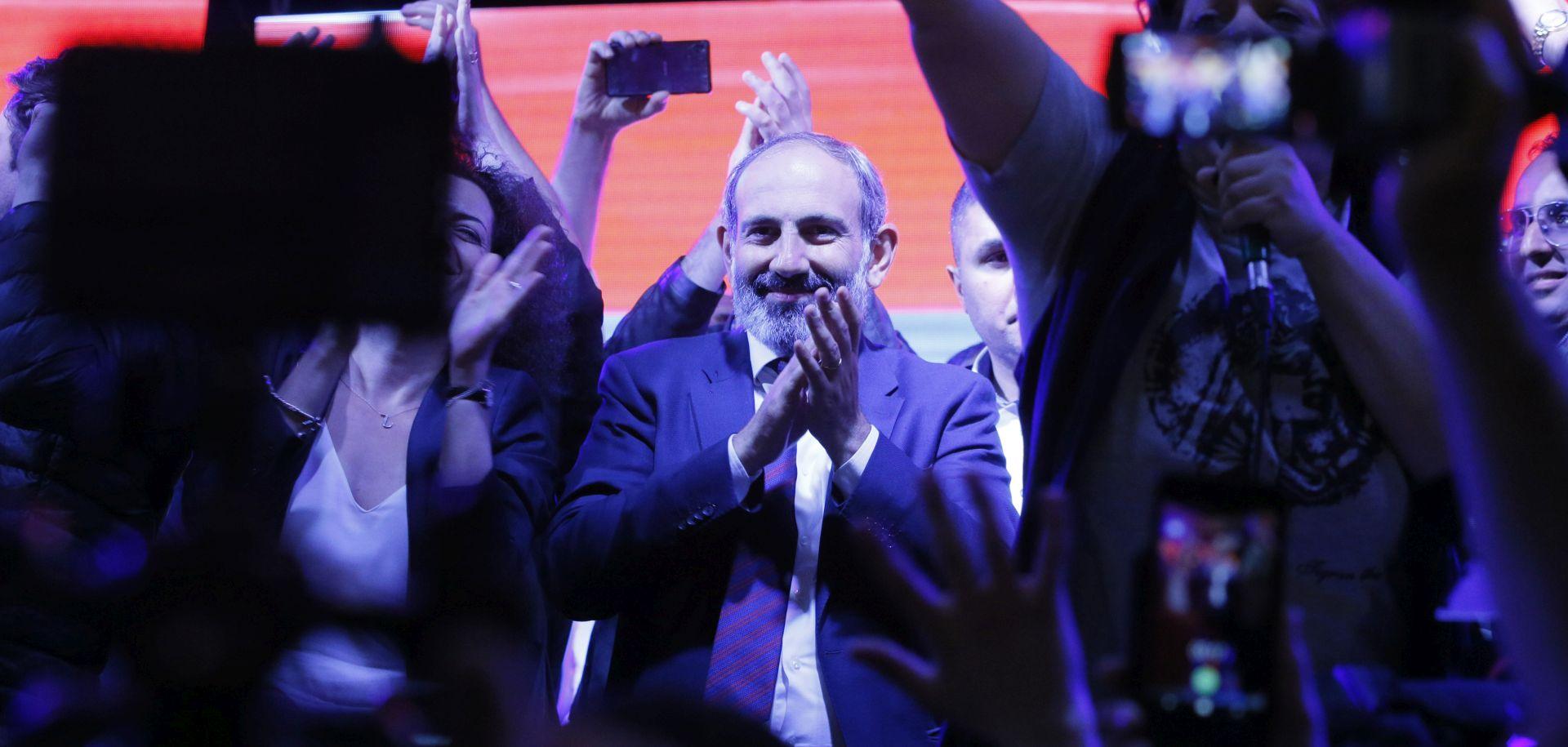 Armenski oporbeni vođa Pašinjan izabran za premijera
