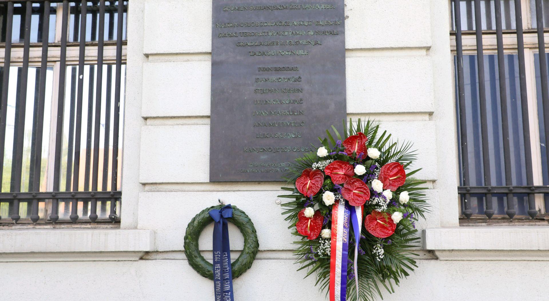 Sjećanje na Zagrepčane stradale u raketiranju grada 1995. godine