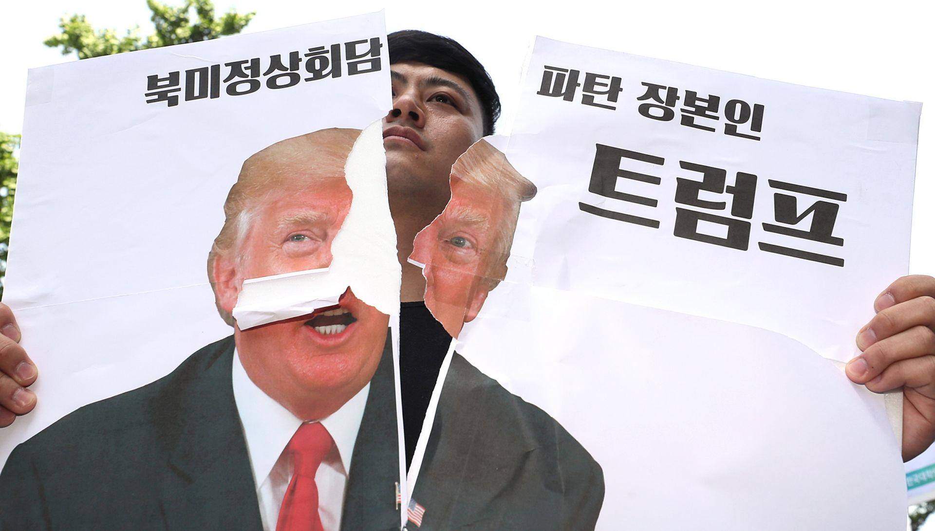 """Južnokorejci osuđuju otkazivanje summita: """"Ništa od Nobelove nagrade Trumpu"""""""