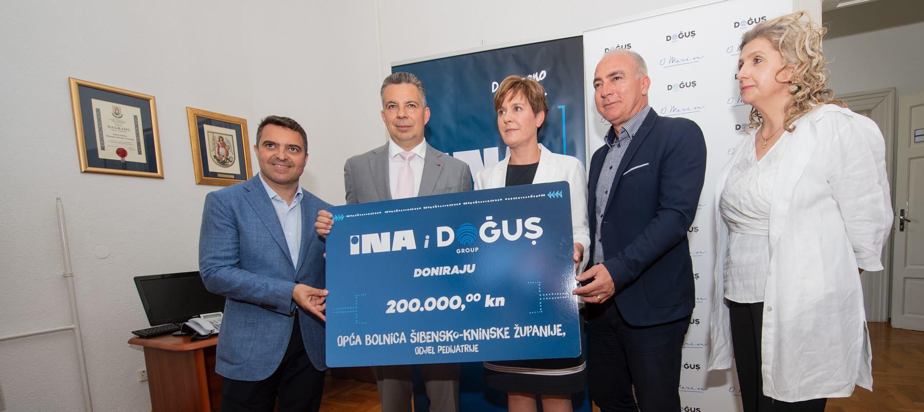 INA i Doğuş Grupa uručili donaciju Općoj bolnici Šibensko-kninske županije