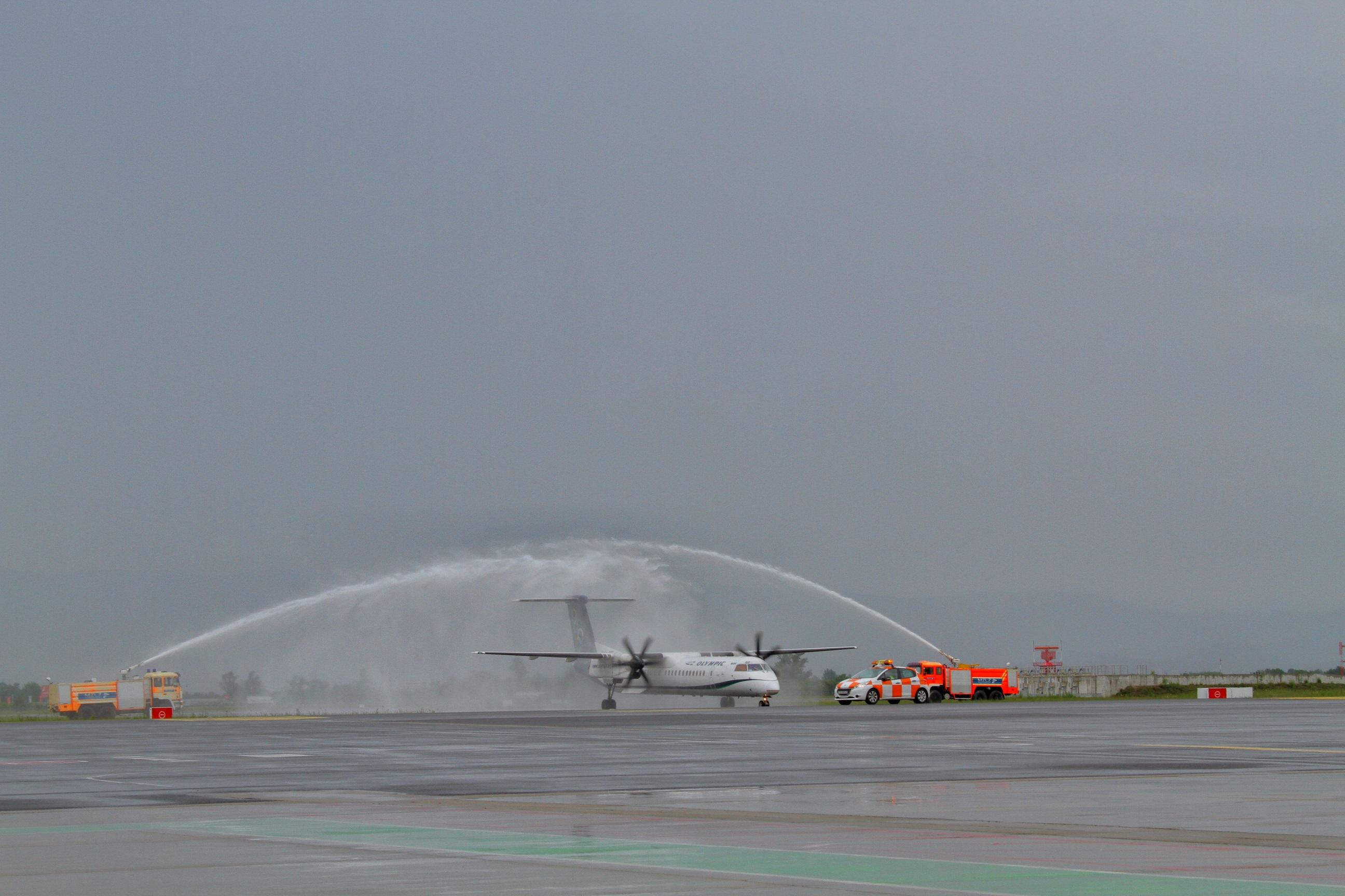 Inauguracijski let Aegean Airlinesa od Atene do Zagreba