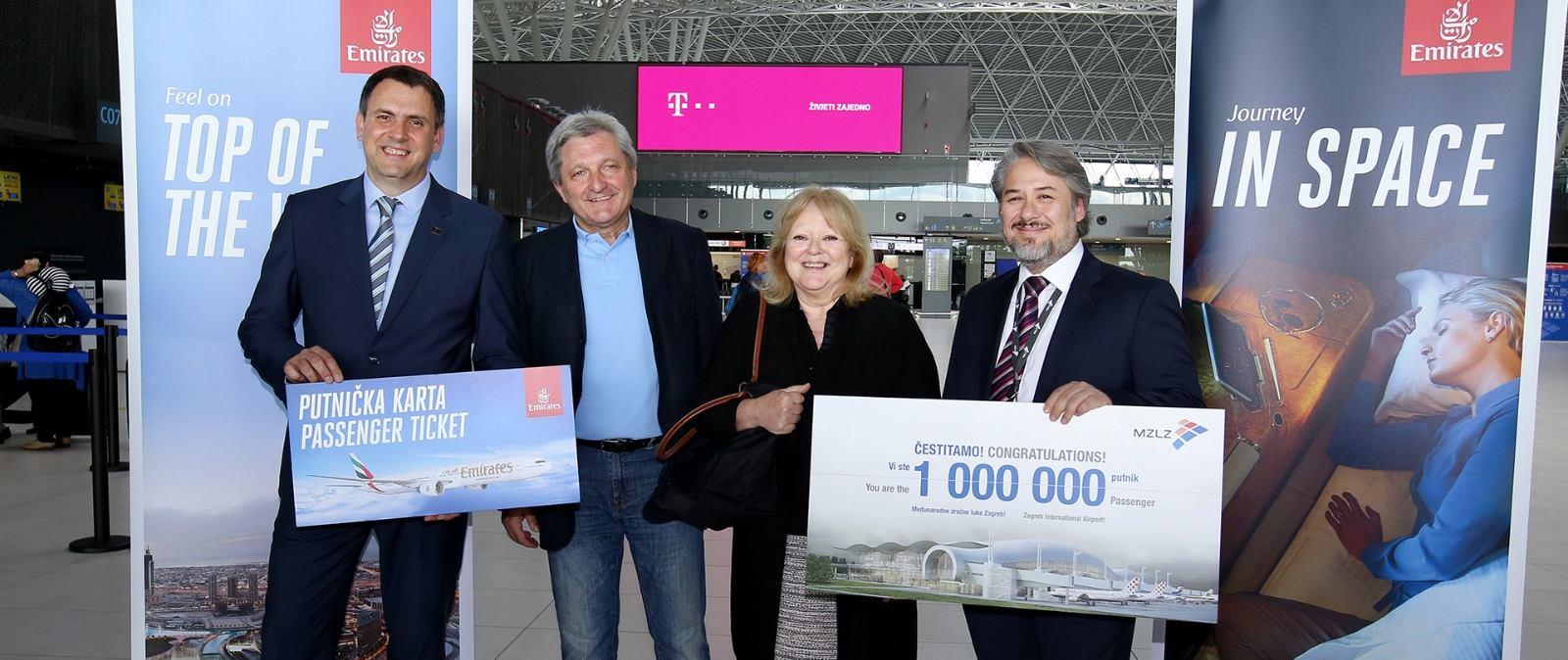 FOTO: Zračna luka Franjo Tuđman zabilježila ovogodišnju milijuntu putnicu