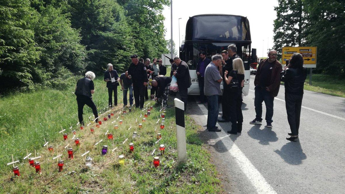 Policija zasustavila A-HSP pred Jasenovcem