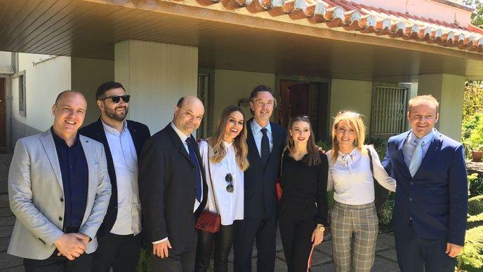 FOTO Franka Batelić na druženju u veleposlanstvu RH u Portugalu