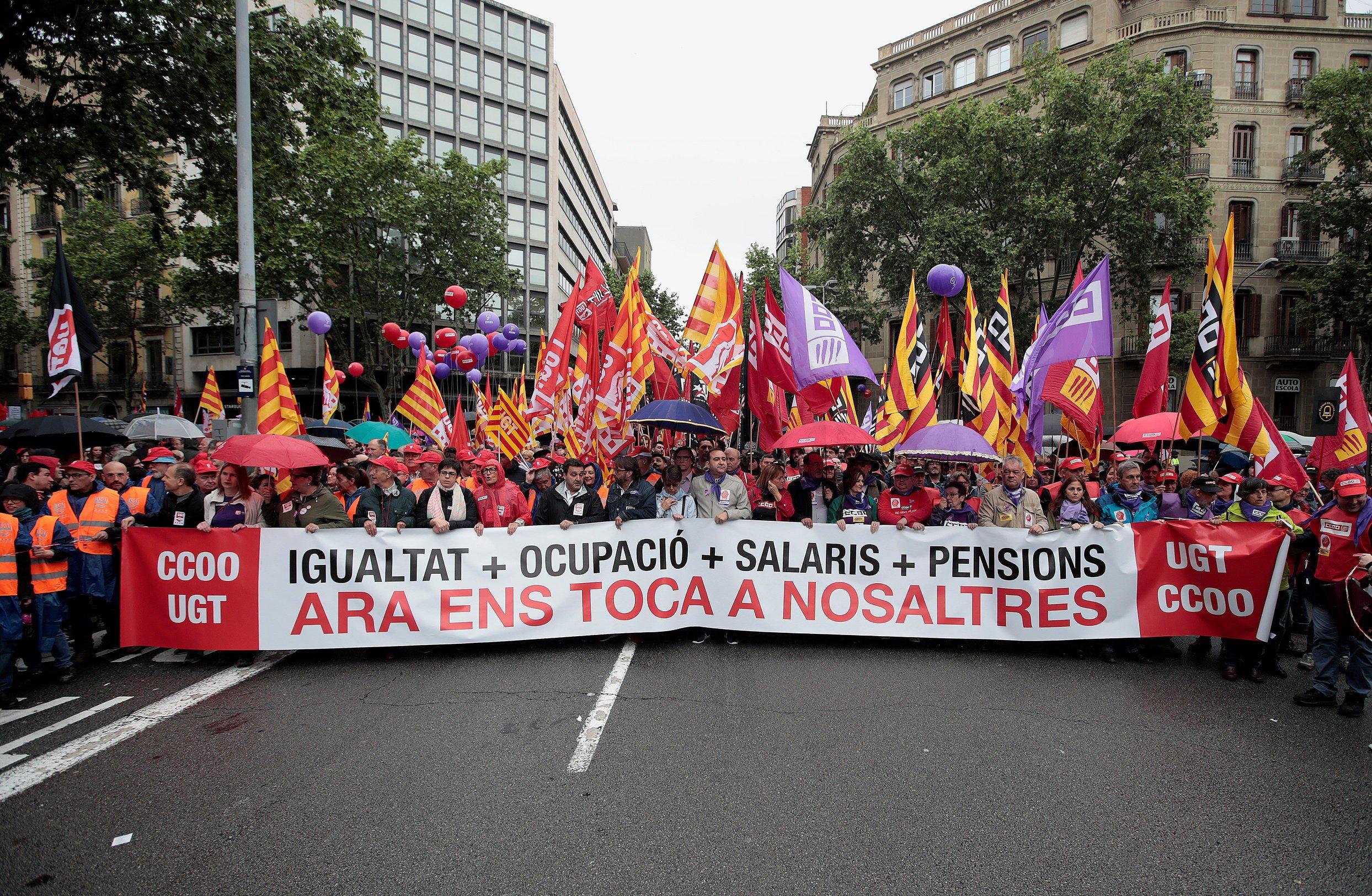 Španjolski sindikati prosvjeduju tražeći podjelu plodova rasta