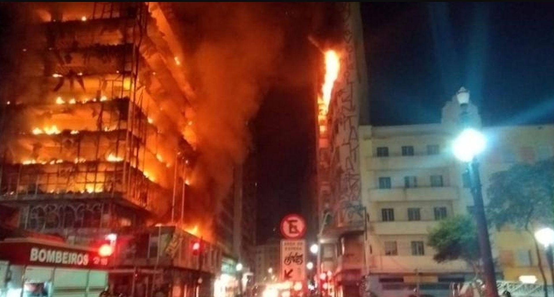VIDEO: Veliki požar stambene zgrade u Sao Paulu
