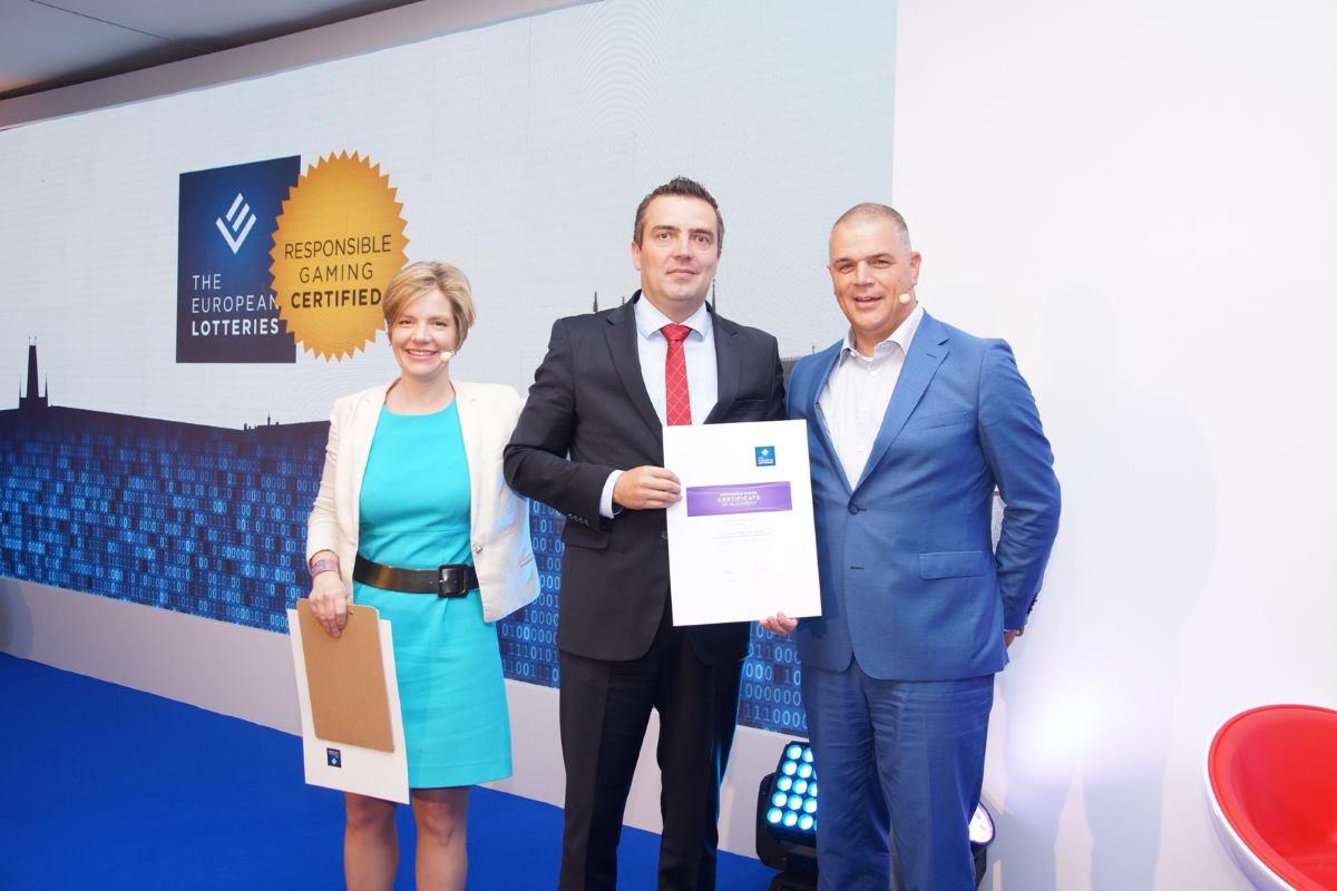 Hrvatskoj Lutriji uručen EL Certifikat odgovornog priređivanja igara na sreću