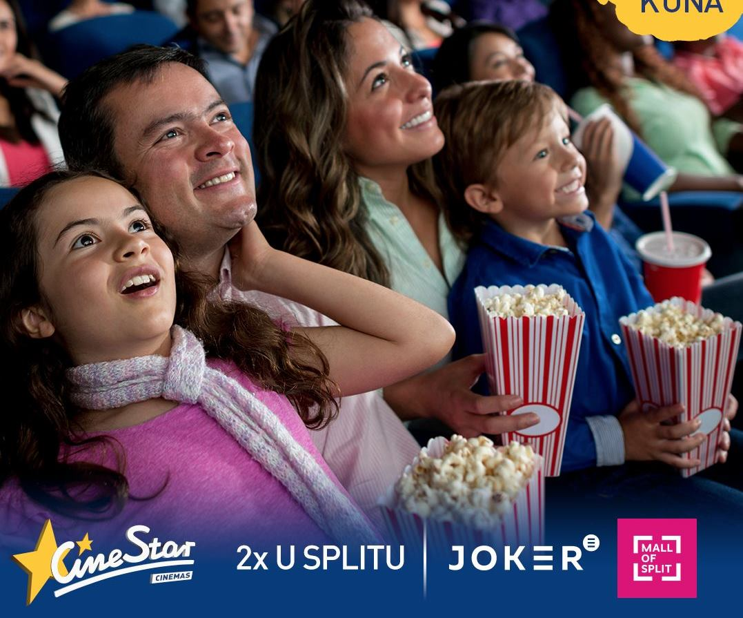 Posjeti CineStar 4DX Mall of Split i Joker CineStar i uživaj u filmskim hitovima