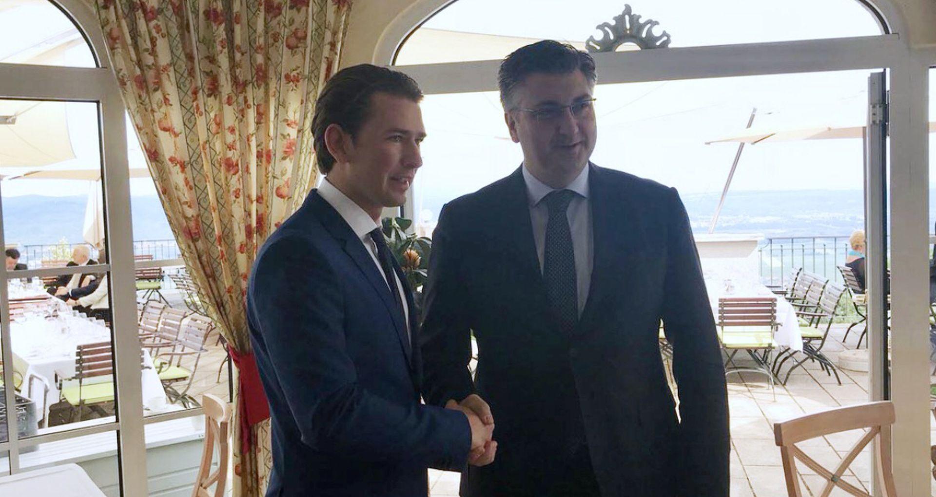 Plenković s Kurzom razgovarao o zaštiti vanjskih granica EU-a