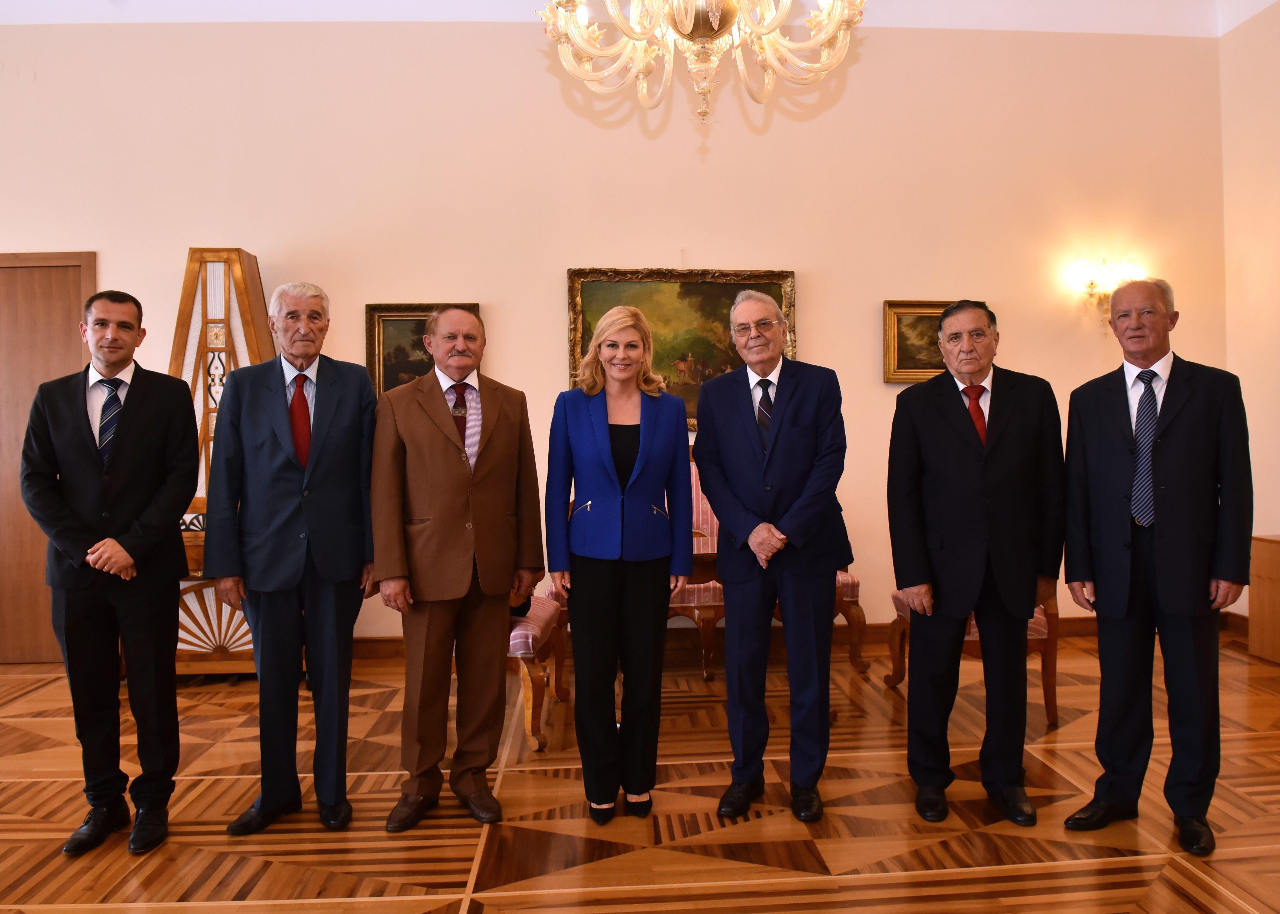 Predsjednica primila izaslanstvo Saveza antifašističkih boraca i antifašista Republike Hrvatske