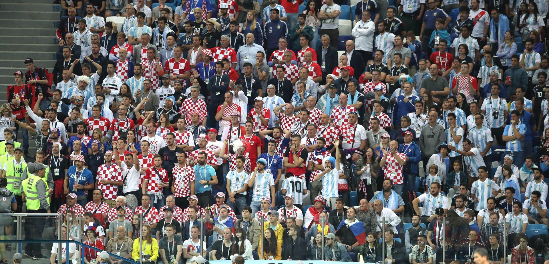 VIDEO: SRAMOTA U RUSIJI Argentinski navijači na stadionu pretukli navijača Hrvatske