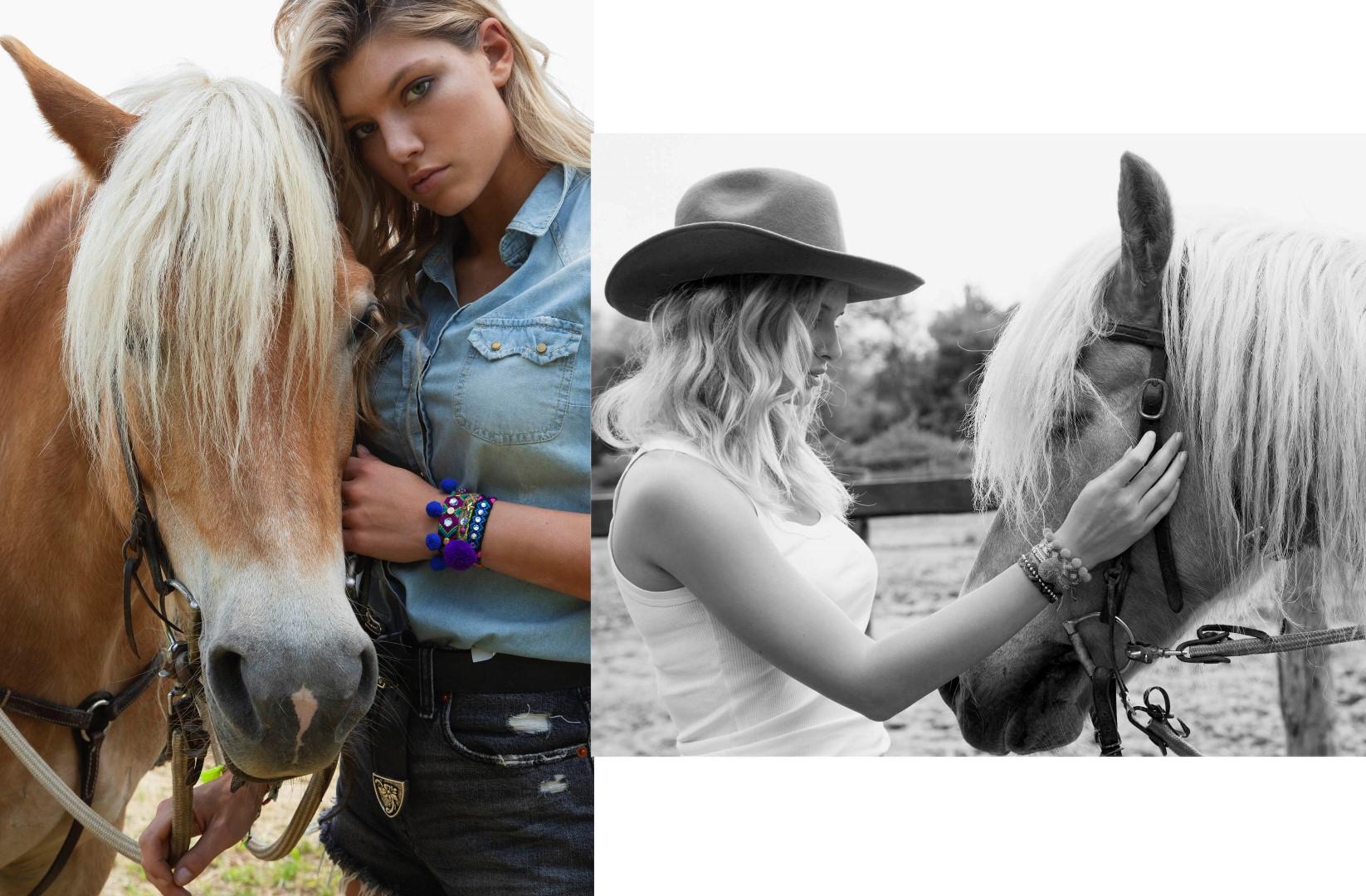 FOTO: Suzana Horvat, Dina Dragija, Petra Kljaić i Zoja Kuterovac u western kampanji