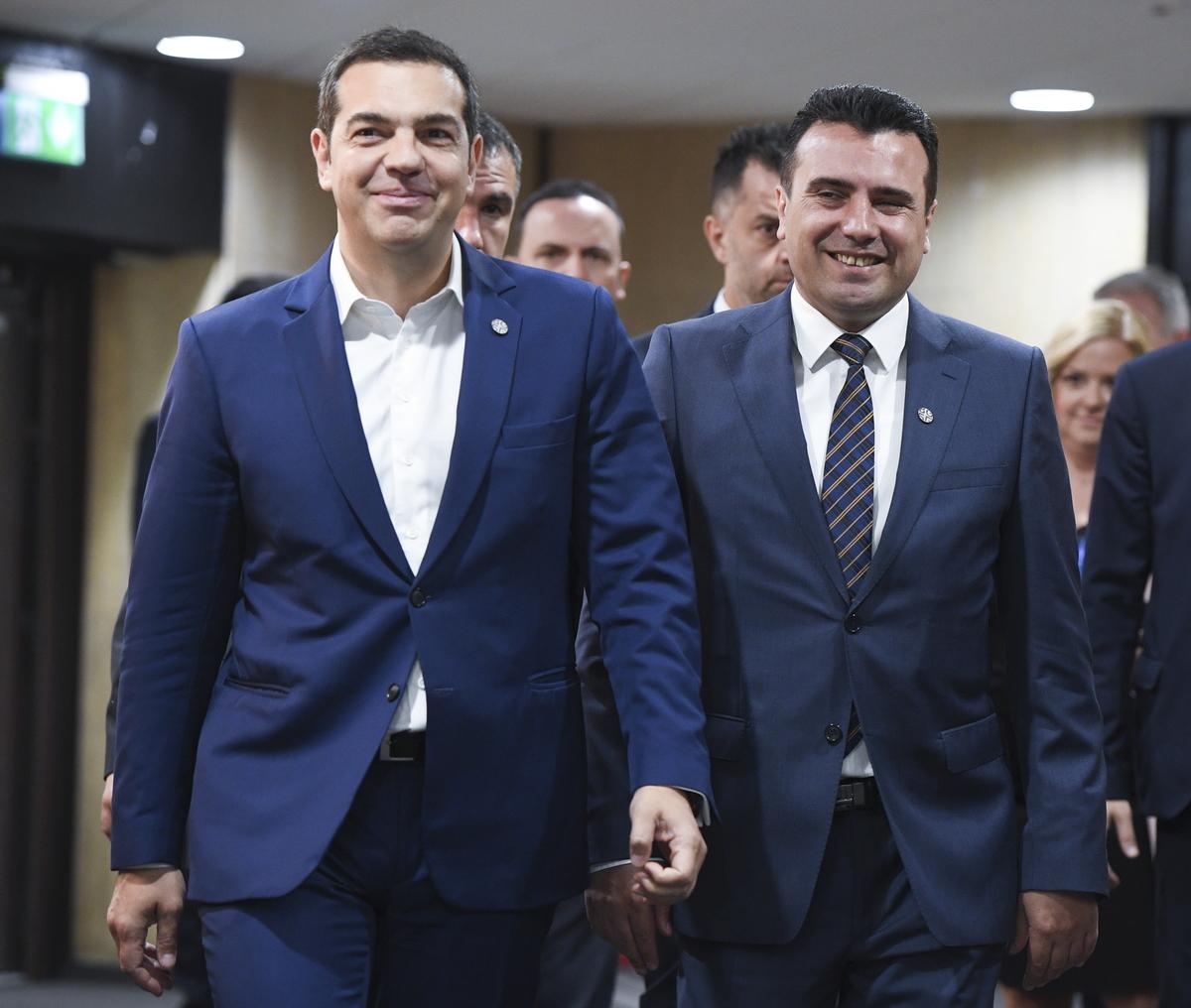 Tsipras i Zaev razgovarali o makedonskom imenu