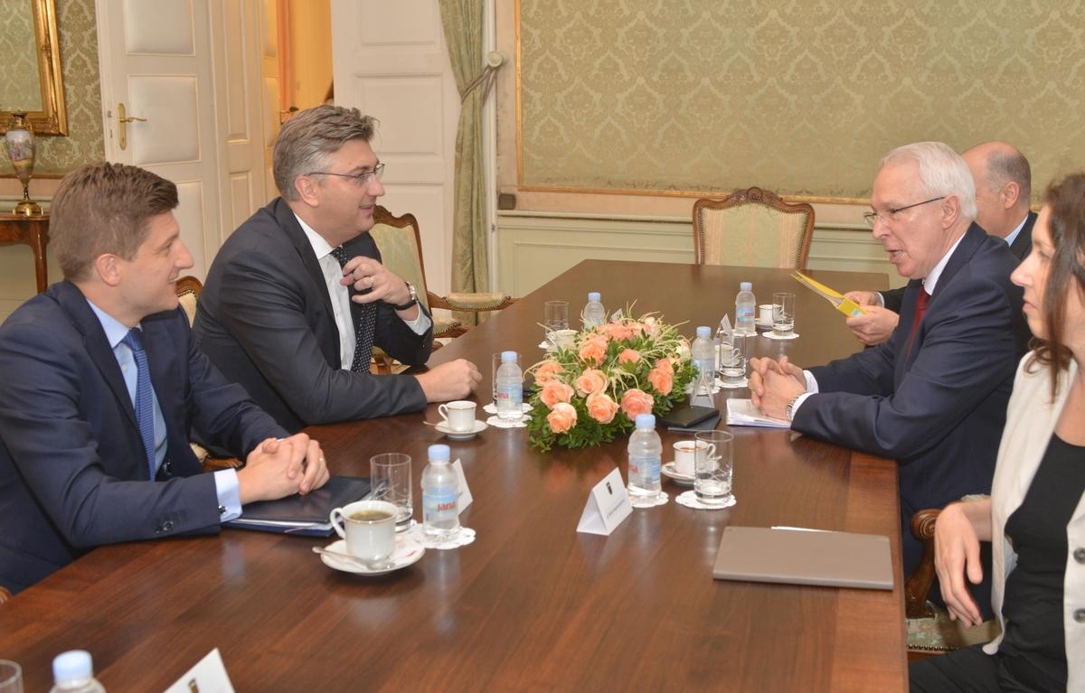 Plenković s guvernerom Razvojne banke Vijeća Europe