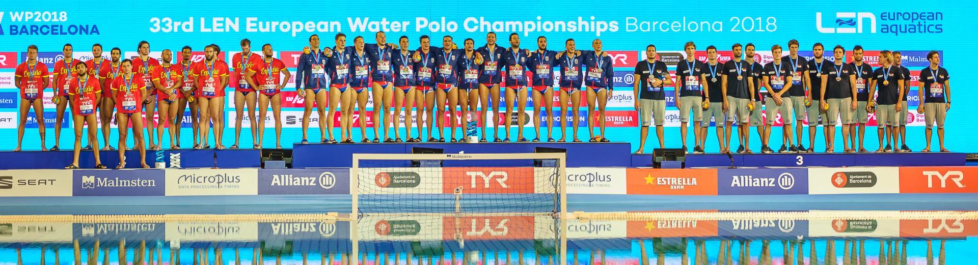 Fotogalerija sa svečane dodjele medalja na Europskom vaterpolskom prvenstvu
