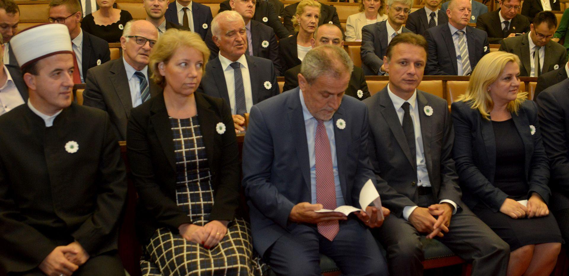 U Saboru komemoracijom obilježena 23. obljetnica genocida u Srebrenici